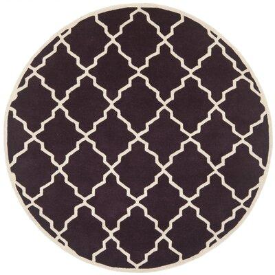 Wilkin Dark Purple Moroccan Rug Rug Size: Round 7