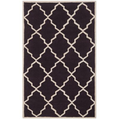 Wilkin Dark Purple Moroccan Rug Rug Size: Rectangle 5 x 8