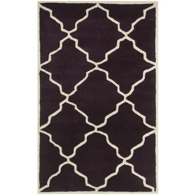 Wilkin Dark Purple Moroccan Rug Rug Size: Rectangle 3 x 5