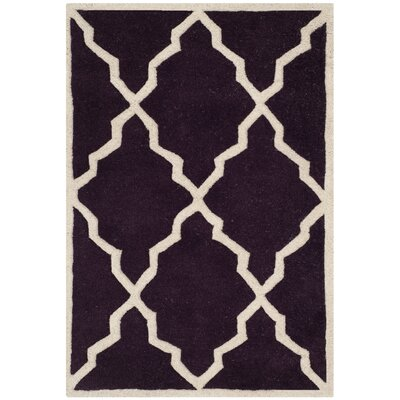 Wilkin Dark Purple Moroccan Rug Rug Size: Rectangle 2 x 3