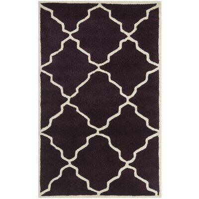 Wilkin Dark Purple Moroccan Rug Rug Size: 3 x 5