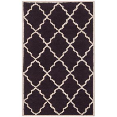Wilkin Dark Purple Moroccan Rug Rug Size: 5 x 8