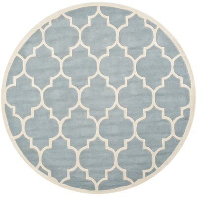 Wilkin Blue Moroccan Area Rug Rug Size: Round 7