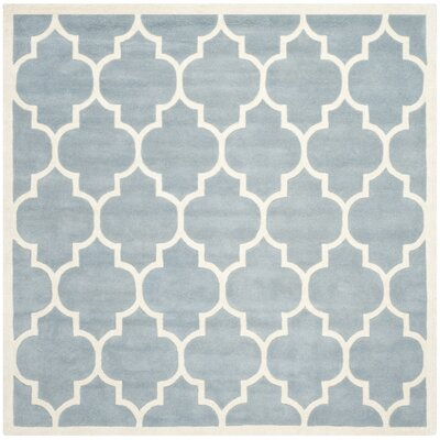 Wilkin Blue/Ivory Moroccan Area Rug Rug Size: Square 7