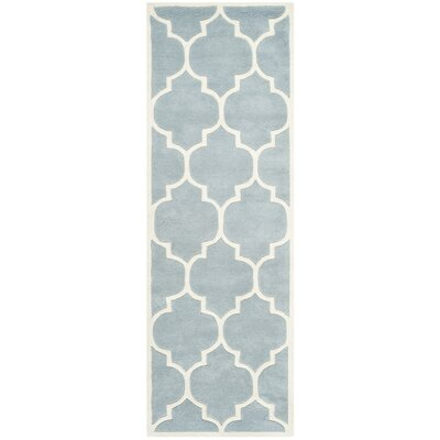 Wilkin Blue/Ivory Moroccan Area Rug Rug Size: Runner 23 x 15