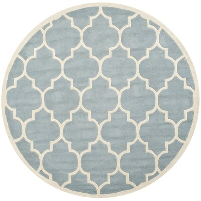 Wilkin Blue/Ivory Moroccan Area Rug Rug Size: Rectangle 7'6