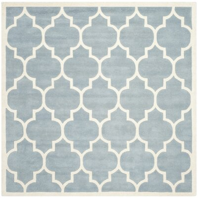 Wilkin Blue/Ivory Moroccan Area Rug Rug Size: Square 5