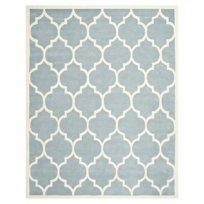 Wilkin Blue/Ivory Moroccan Area Rug Rug Size: 3 x 5