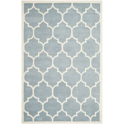 Wilkin Blue/Ivory Moroccan Area Rug Rug Size: 4 x 6