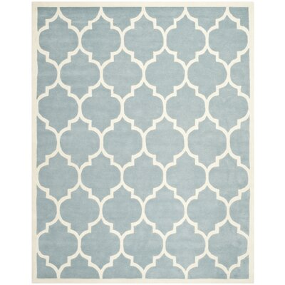 Wilkin Blue/Ivory Moroccan Area Rug Rug Size: 6 x 9
