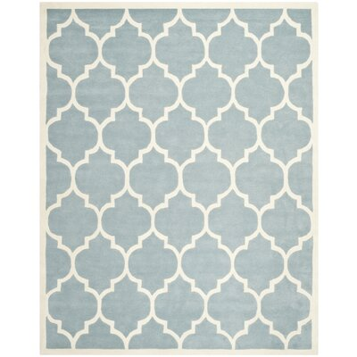Wilkin Blue/Ivory Moroccan Area Rug Rug Size: 11 x 15
