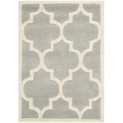 Wilkin Gray / Ivory Moroccan Rug Rug Size: 2 x 3
