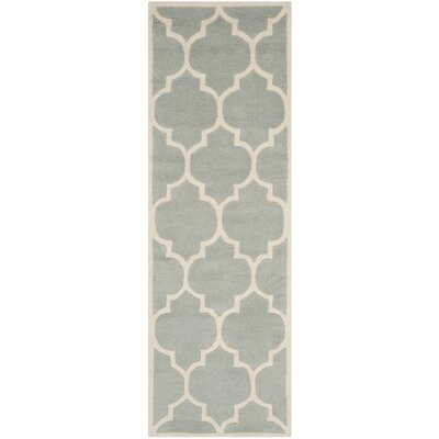 Wilkin Hand-Tufted Gray/Ivory Area Rug Rug Size: Runner 23 x 13