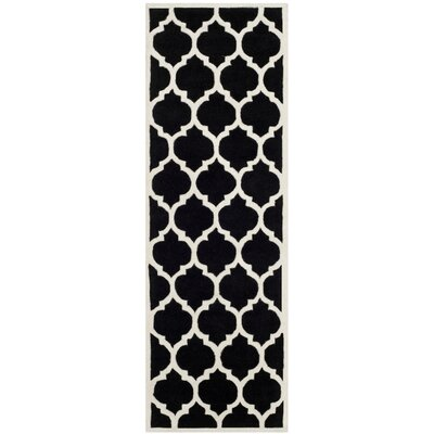 Wilkin Black & Ivory Moroccan Area Rug Rug Size: Runner 23 x 9
