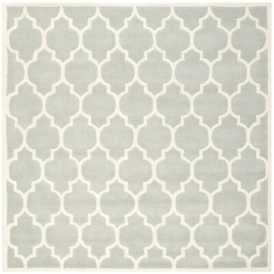 Wilkin Light Blue & Ivory Moroccan Area Rug Rug Size: Square 7