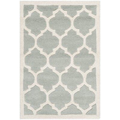 Wilkin Light Blue & Ivory Moroccan Area Rug Rug Size: Rectangle 6 x 9