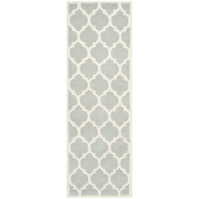 Wilkin Light Blue & Ivory Moroccan Area Rug Rug Size: Runner 23 x 7
