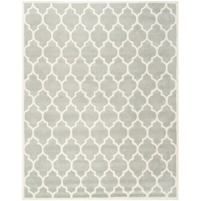 Wilkin Light Blue & Ivory Moroccan Area Rug Rug Size: 10 x 14