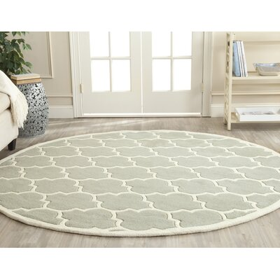 Wilkin Light Blue & Ivory Moroccan Area Rug Rug Size: Round 4