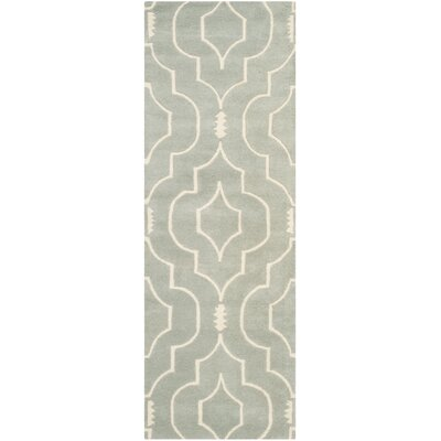 Wilkin Hand-Tufted Gray/Ivory Area Rug Rug Size: Runner 23 x 7