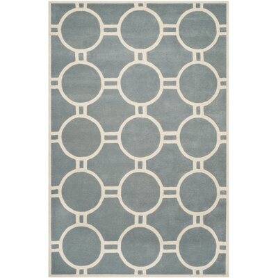Wilkin Blue / Ivory Rug Rug Size: Rectangle 6 x 9