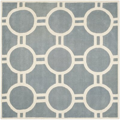 Wilkin Blue / Ivory Rug Rug Size: Square 7