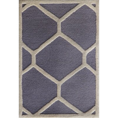 Martins Hand-Tufted Wool Silver/Ivory Area Rug Rug Size: Rectangle 2 x 3