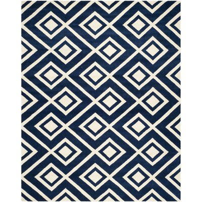 Wilkin Dark Blue / Ivory Rug Rug Size: 8 x 10