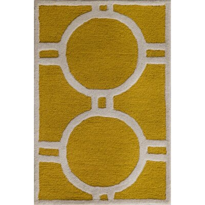 Martins Gold / Ivory Area Rug Rug Size: Rectangle 4 x 6