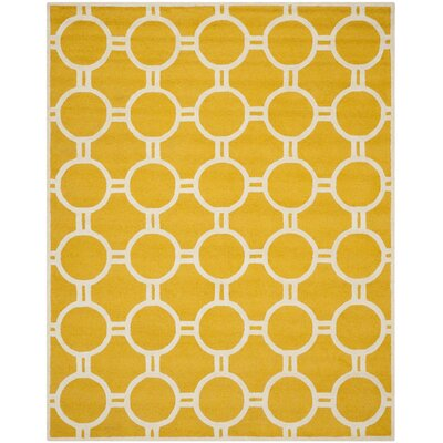 Martins Gold / Ivory Area Rug Rug Size: Rectangle 8 x 10