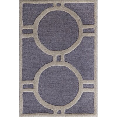 Martins Silver / Ivory Area Rug Rug Size: 6 x 9