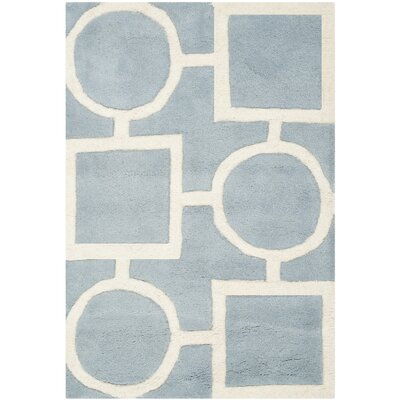 Wilkin Hand-Tufted Wool Blue/Ivory Rug Rug Size: Rectangle 2 x 3
