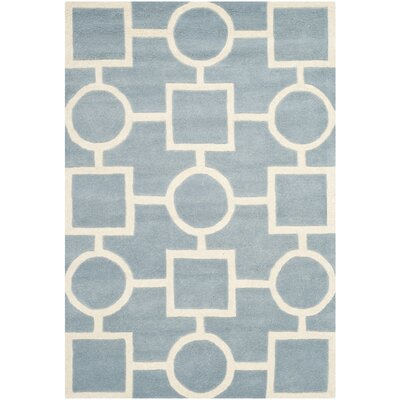 Wilkin Blue / Ivory Rug Rug Size: Rectangle 4 x 6