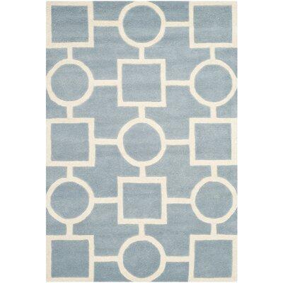 Wilkin Blue / Ivory Rug Rug Size: 4 x 6