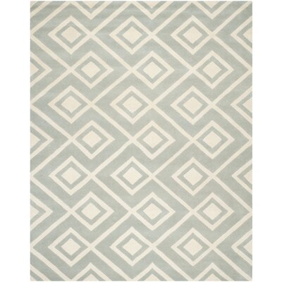 Wilkin Hand-Tufted Wool Gray/Ivory Rug Rug Size: Rectangle 89 x 12