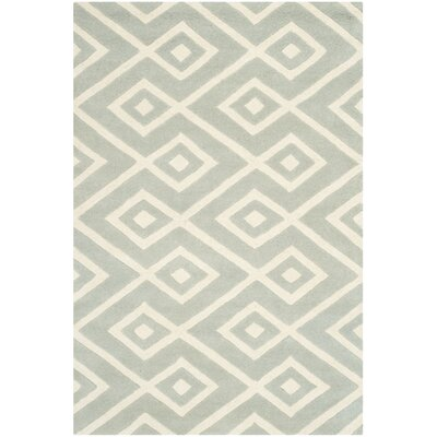Wilkin Hand-Woven Gray/Ivory Area Rug Rug Size: Rectangle 4 x 6
