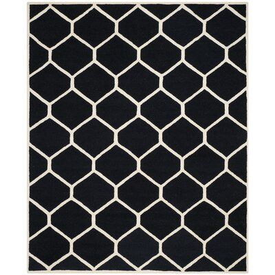 Martins Black/Ivory Area Rug Rug Size: Rectangle 8 x 10