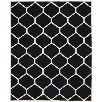 Martins Black/Ivory Area Rug Rug Size: 9 x 12