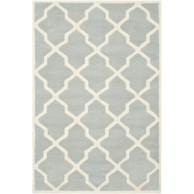Wilkin Hand-Tufted Wool Gray/Ivory Area Rug Rug Size: Rectangle 4 x 6