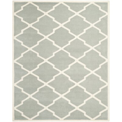 Wilkin Grey & Ivory Area Rug Rug Size: Rectangle 8 x 10
