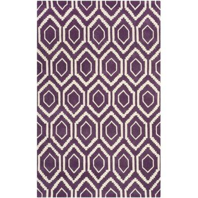 Wilkin Purple / Ivory Rug Rug Size: 5' x 8'