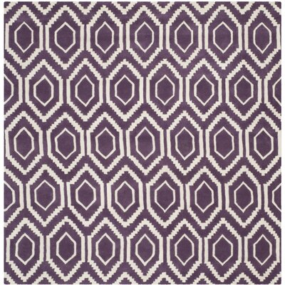 Wilkin Purple / Ivory Rug Rug Size: Square 7