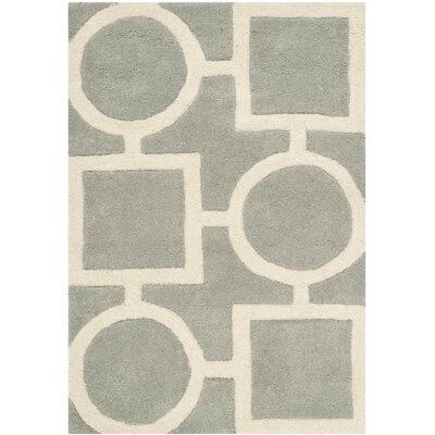 Wilkin Hand-Tufted Wool Gray/Ivory Rug Rug Size: Rectangle 2 x 3