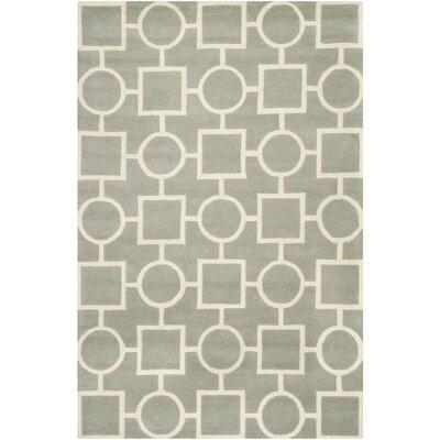 Wilkin Grey / Ivory Rug Rug Size: Rectangle 6 x 9