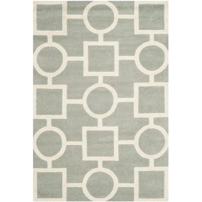 Wilkin Hand-Tufted Wool Gray/Ivory Rug Rug Size: Rectangle 4 x 6