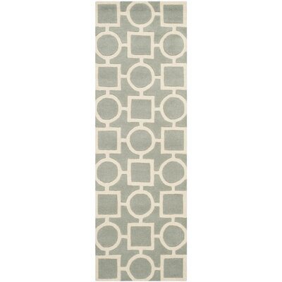 Wilkin Hand-Tufted Wool Gray/Ivory Rug Rug Size: Rectangle 8 x 10