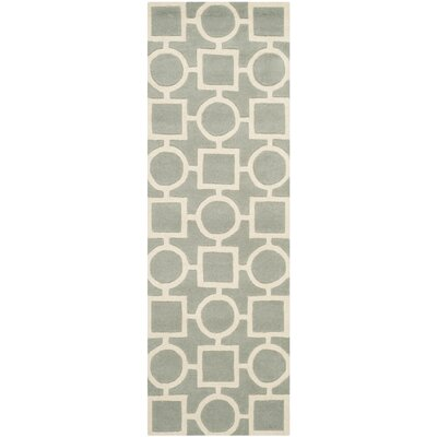 Wilkin Hand-Tufted Wool Gray/Ivory Rug Rug Size: Runner 23 x 7