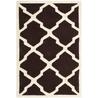 Wilkin Dark Brown / Ivory Rug Rug Size: Rectangle 2 x 3