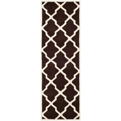Wilkin Dark Brown / Ivory Rug Rug Size: Runner 23 x 7