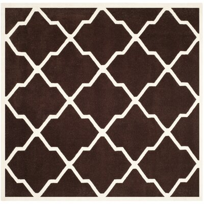 Wilkin Dark Brown / Ivory Rug Rug Size: Square 7